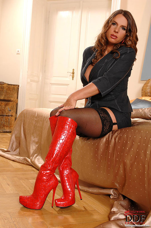 Nude women stockings and boots