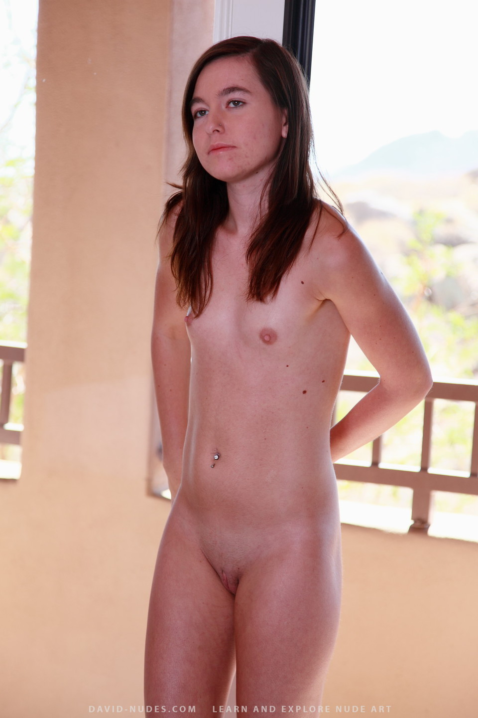 naked girls flat chested