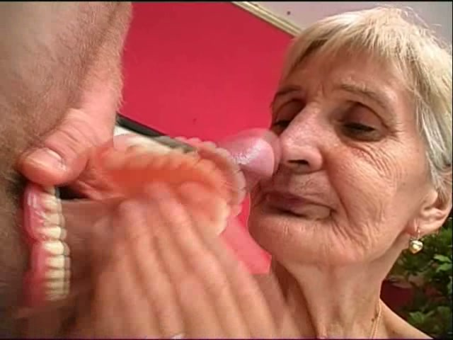 Old woman giving blow jobs