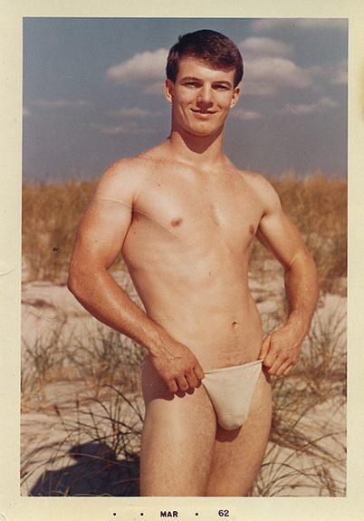 Nudist family beach erection