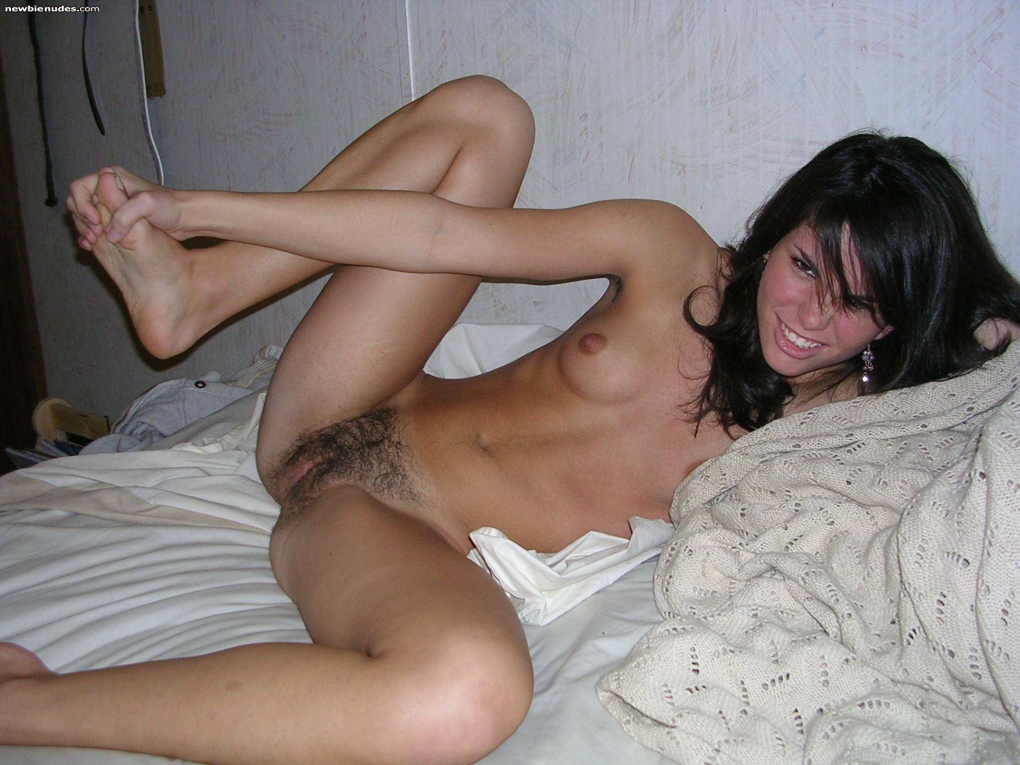 Young middle asian lady in the nude