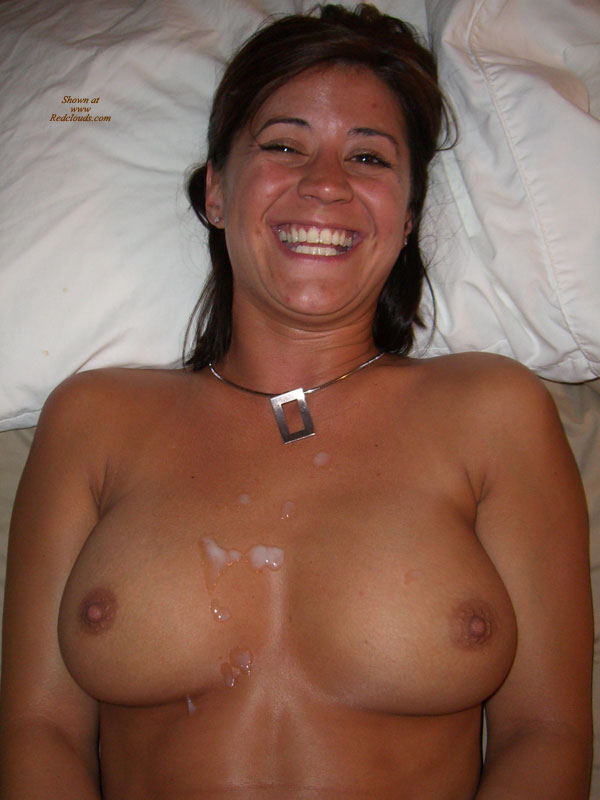 tits Amateur wife cum covered