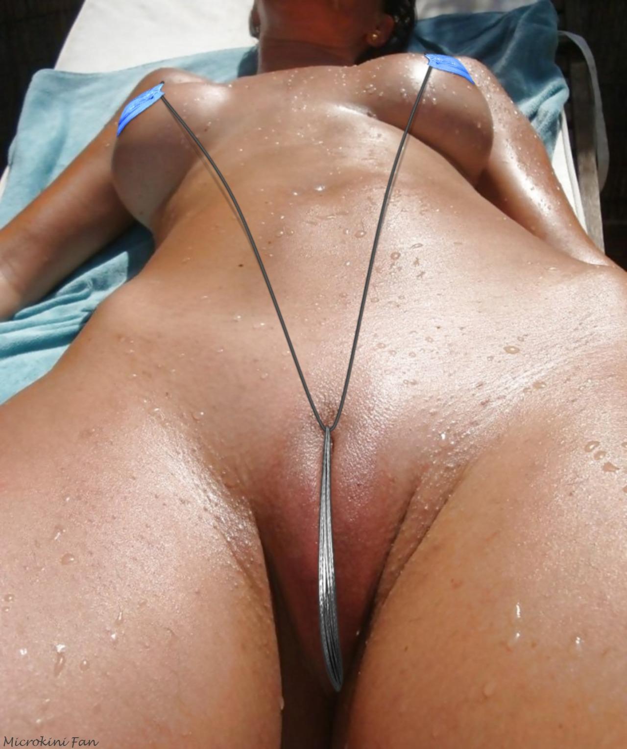Bikini girl at airport