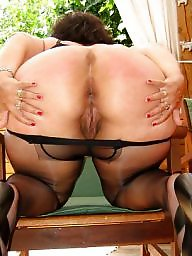 Milf nylon stocking tease