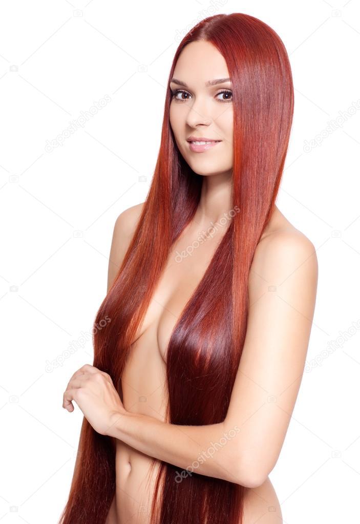 Long Red Hair Nude Women