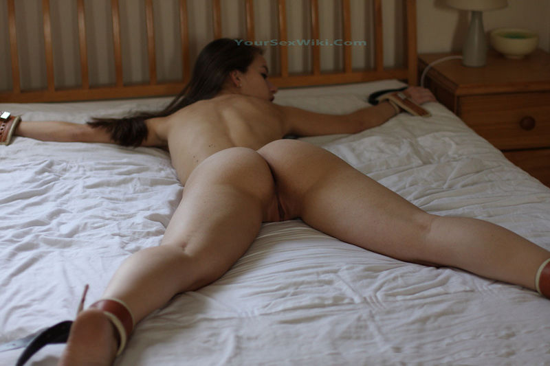 nakes adult women lying down tied up