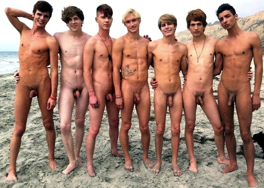 Group Naked Boys