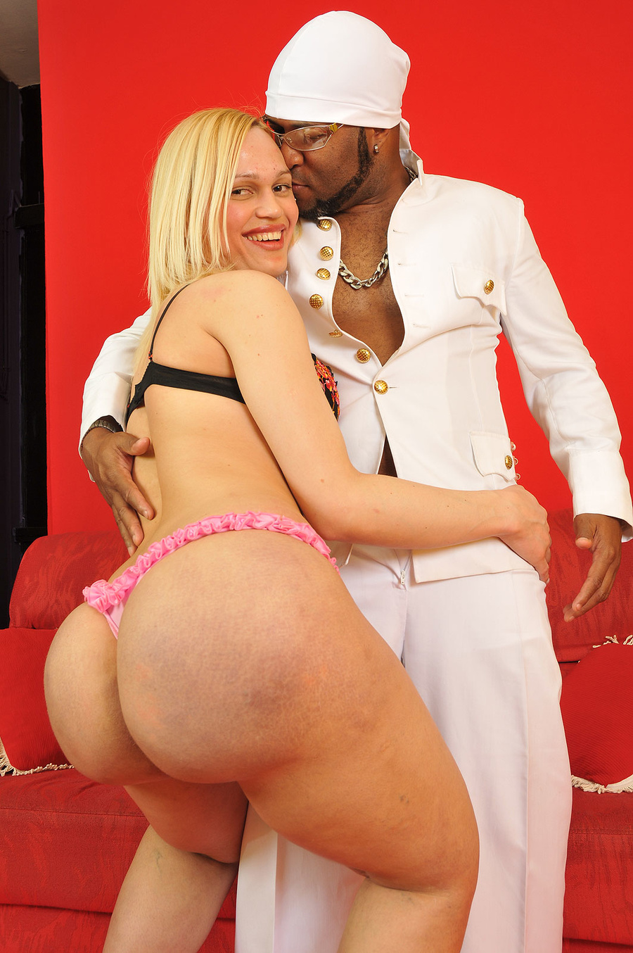 Black man whipping white slaves