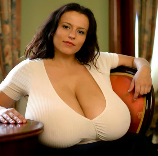 milf huge tits at work