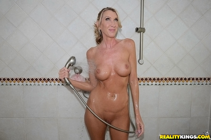 nudist family at home photo