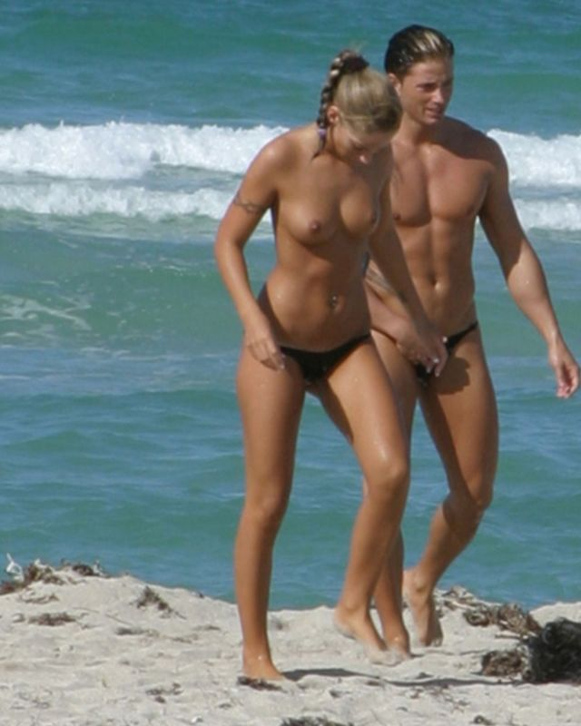 Naked on the beach photos