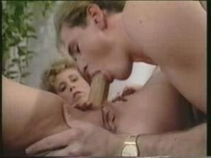 Sexy blonde white panties