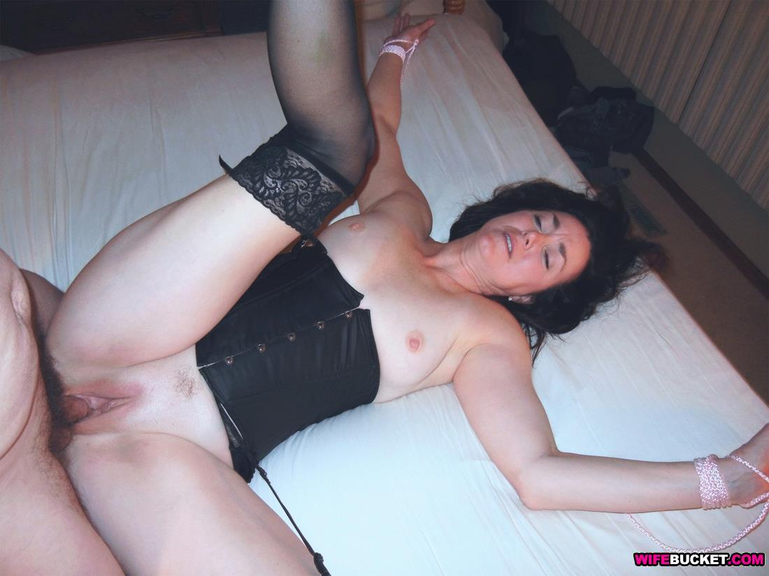 Mature amateur milf see through lingerie