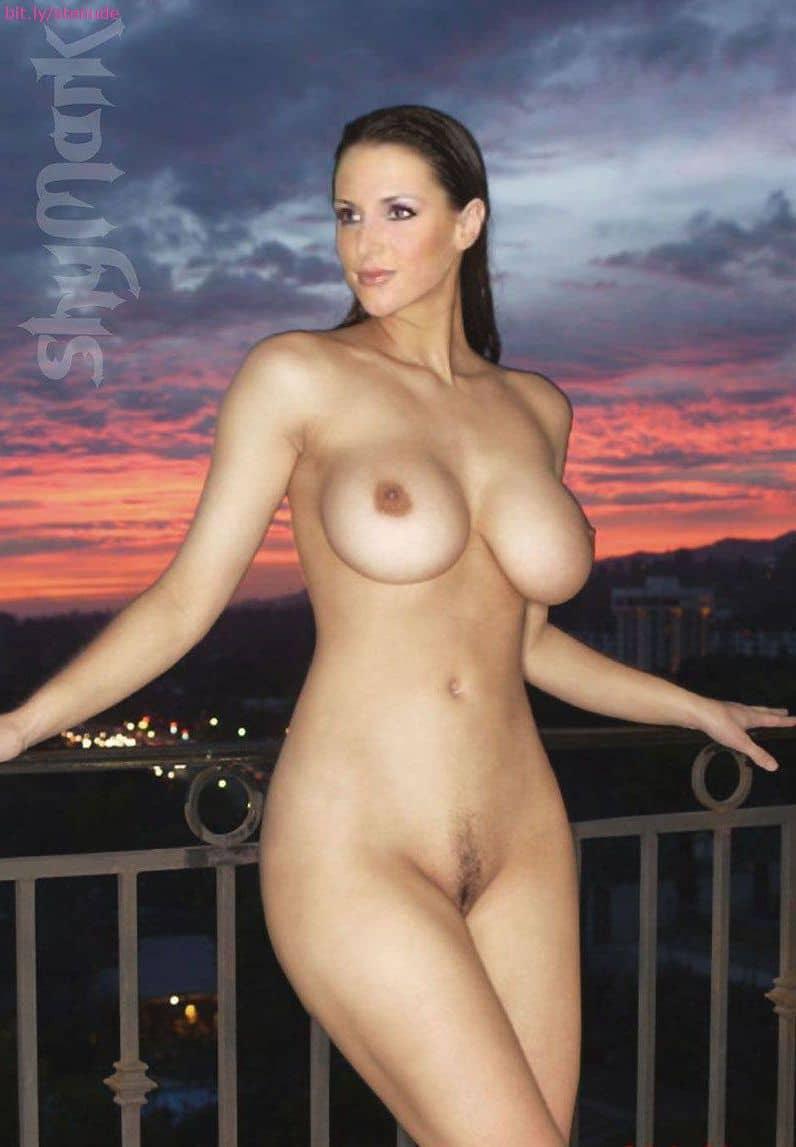 Flashing black bra cleavage