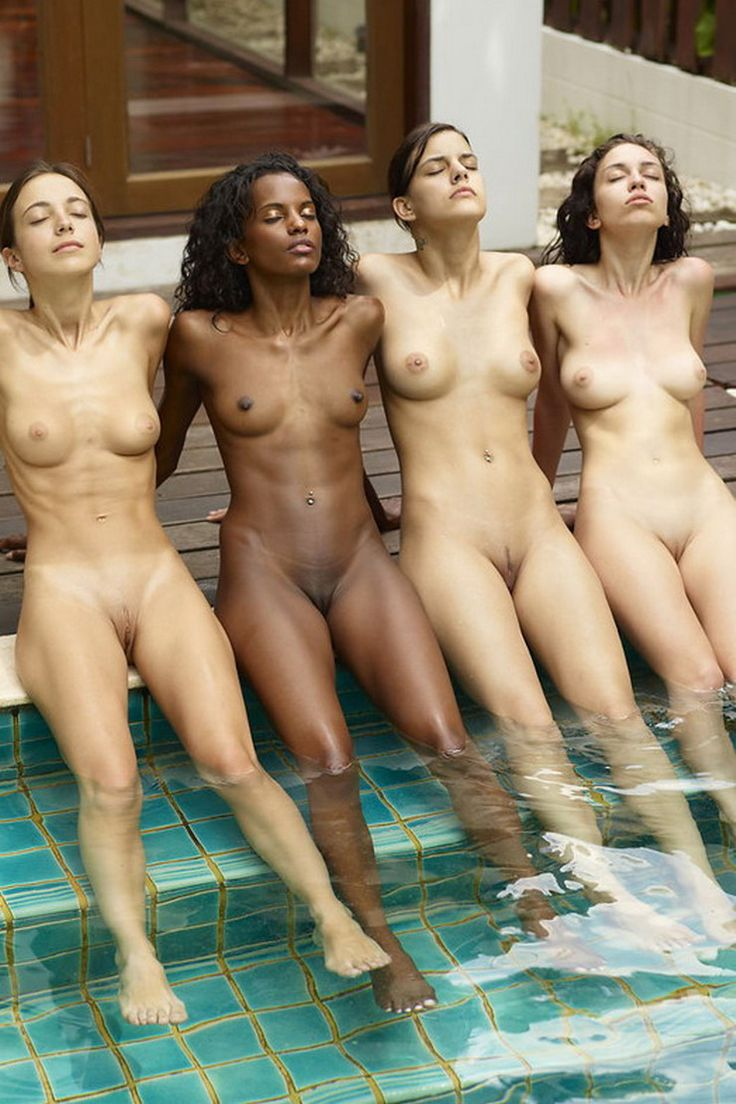 Nude girls with pubic hair