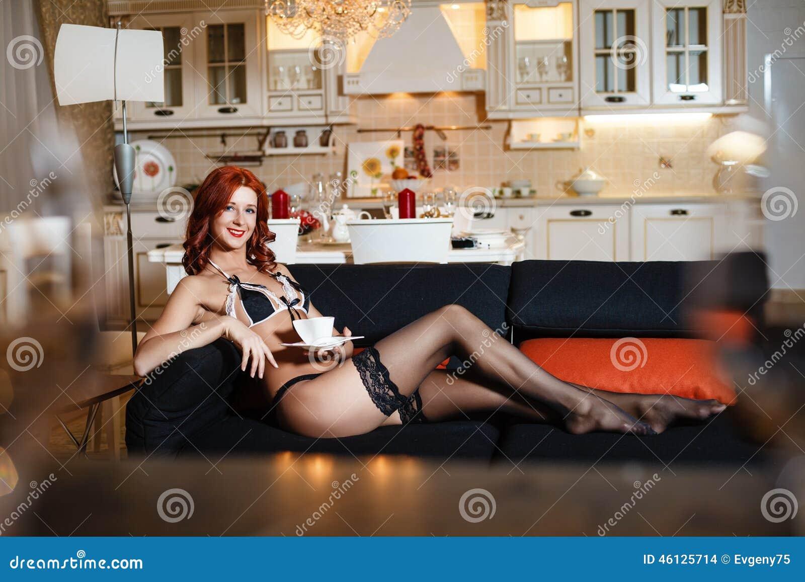 Women wearing latex panties